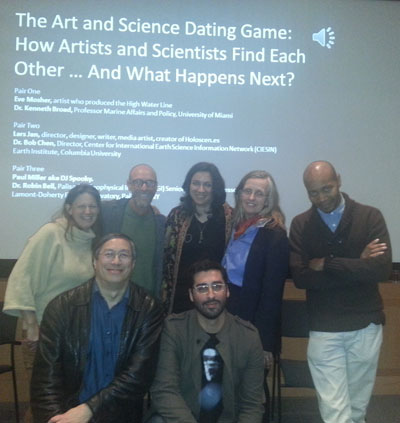 Participants in The Art and Science Dating Game
