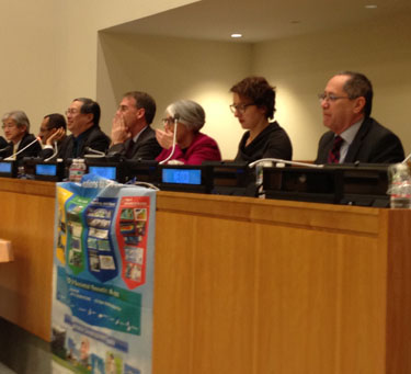 photo of panelists at UN side event