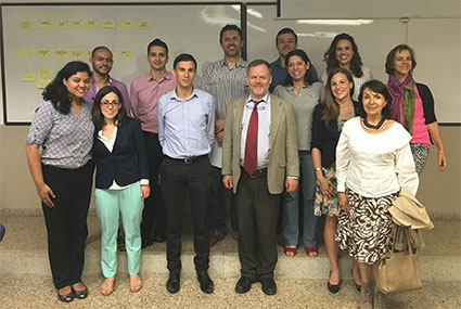 CIESIN Staff, members of the INNOVE team, and other participants at a workshop on environmental information systems held at EAFIT University June 9 in Mendellin, Colombia.